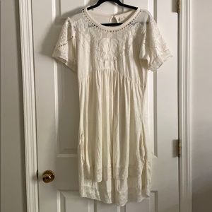 Anthropologie dress with embroidered top